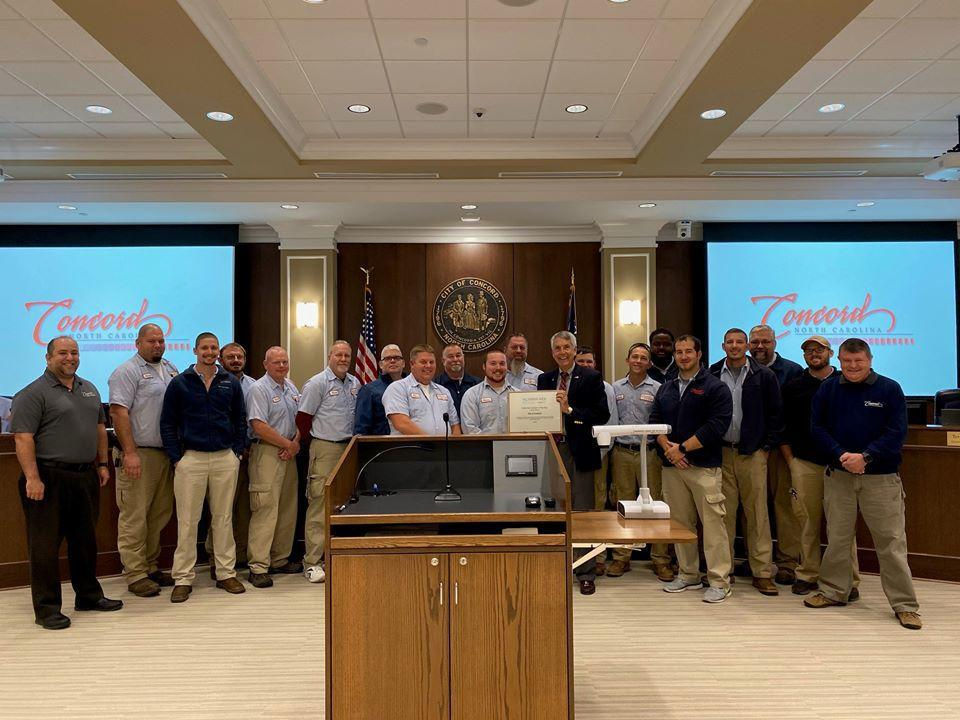 City of Concord Wastewater Department wins 2019 Collection System of Year