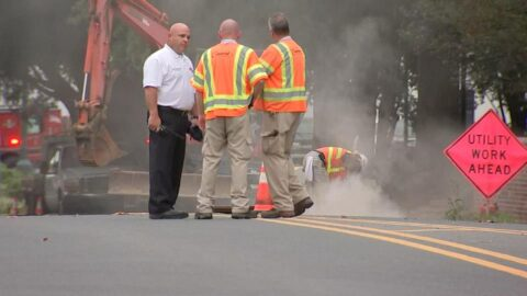 Gas line rupture forces evacuation of several buildings in downtown Concord