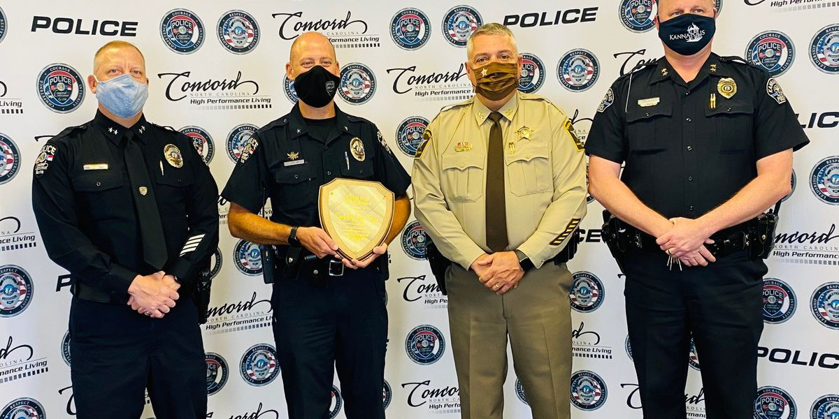 Concord Police Deputy Chief Jimmy Hughes recognized as 2020 Robert Jackson Eury Memorial Award recipient