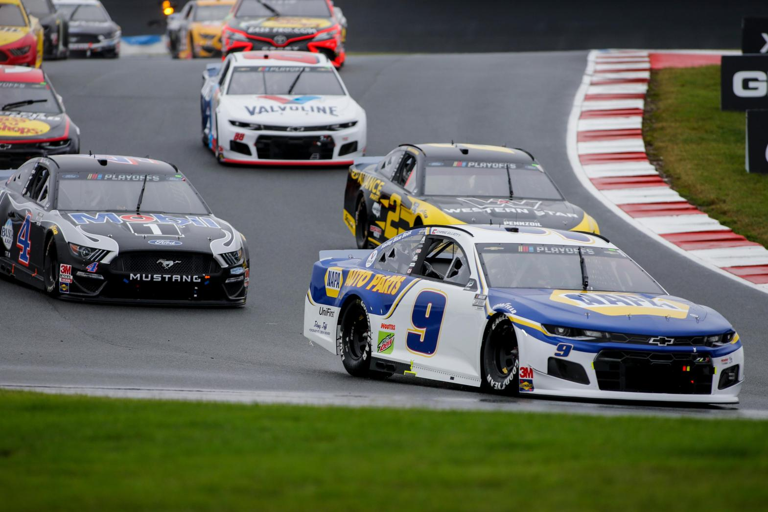 Elliott wins at Roval as champ Busch bounced from playoffs